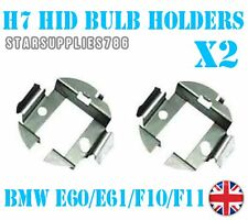 2x H7 METAL HID CONVERSION KIT BULB HOLDERS CLIPS ADAPTORS BMW 5 SERIES E60 F10