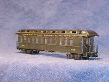 HOn3 MRGS kit#3302 D&RGW narrow gauge open platform PC, plastic w/resin roof