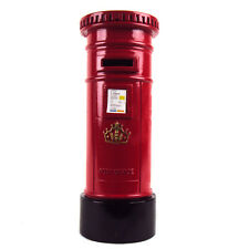 POST BOX SOUVENIR RED DIE METAL POST OFFICE MONEY BOX BANK NEW AND BOXED