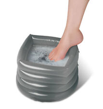 Portable Inflatable Foot Spa Massage Bath - Home or Travel Pedicure Treatments