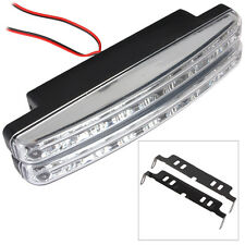 2pcs/lot  8 LED Universal Car Daytime Running Auxiliary Lamp with White Ligtht