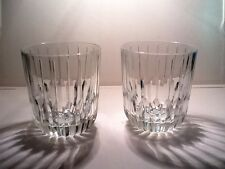 "(2) CRISTAL D'ARQUES  FRANCE  ON THE ROCKS GLASSES  ""BOULEVARD""  DISC 2013"