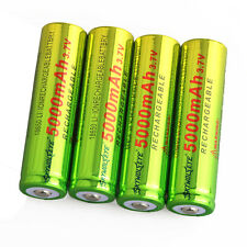 4pcs SKYWOLFEYE BRC 5000mAh Li-ion 3.7V Rechargeable Batteries 18650 Battery USA