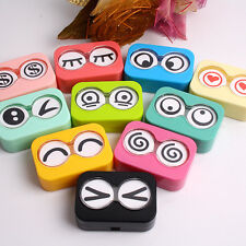 Lovely Expression Contact Lens Case Travel Kit Portable Mirror Container Box