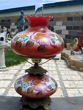 GORGEOUS Vintage GONE WITH THE  WIND GWTW Lamp Cinnamon Mauve Color HAND PAINTED