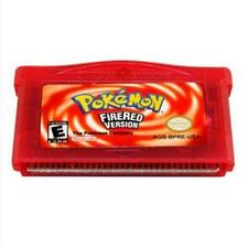 GBA SP NDSL Cartridge Game Card Pokemon Fire Red Version For Gameboy Fan Gift