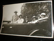 Old real photograph RPPC postcard group car chauffeur c1930s