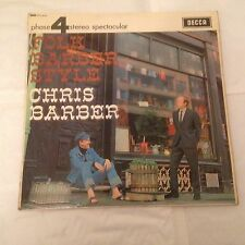 Chris Barber - Folk Barber Style - Decca Stereo LP (1965) Jazz Folk