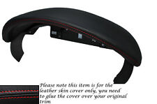 RED STITCH SPEEDO GAUGE HOOD LEATHER COVER FITS PORSCHE BOXSTER 987 2005-2011