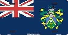 "Aluminum National Flag Pitcairn Islands ""License Plate"""