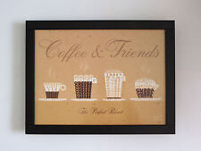 'COFFEE & FRIENDS'  TV LAP TRAY WITH SOFT BEANBAG BASE IN FAUX LEATHER