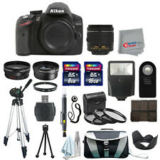 Nikon D3200 Digital SLR Camera Body + 3 Lens 18-55mm VR + All You Need Kit