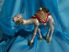 SWAROVSKI CRYSTAL BEJEWELED ENAMELED HINGED TRINKET BOX - JEWELED RIDING CAMEL