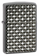 "Zippo ""Armor"" Lighter, Engine Turn Stars, Ebony Finish, 28186"