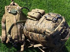 New USMC ILBE Marpat Marine Assault 3 Days Back Pack + Coyote Hydration System