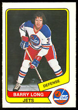 1976 77 OPC O PEE CHEE WHA #7 BARRY LONG NM WINNIPEG JETS HOCKEY CARD