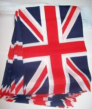 UK Fabric Union Jack Bunting Flag 10metres/33ft Long with 30 Flags (16cmX23cm)