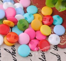 100x  Mini Plastic Buttons Cat's Eye Hole Kid's Sewing Notions Lots Mix NK029