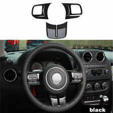Decorative Steering Wheel Trim Cover For Jeep Wrangler Compass JK 2007-16 Black