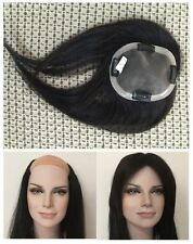 "4""x5"" 100% natural human hair replacement systems unit toupee wig wigs topper 8"""