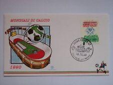 BUSTA PRIMO GIORNO FDC 1990 MONDIALI DI CALCIO  (m14-12-13  )