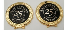 "2-Cadillac ""25TH ANNIVERSARY"" CREST!! 2 3/4"" Emblems!! GOLD PLATED!!"