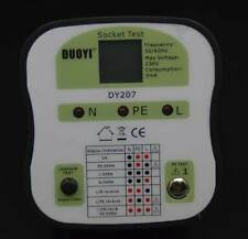 DY207 Electrical Socket Tester RCD UK Plug Safety Testing Leakage Test