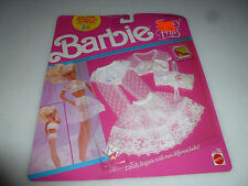 NEW ON CARD BARBIE FANCY FRILLS FASHIONS OUTFIT SET LINGERIE 5287 MATTEL 1990