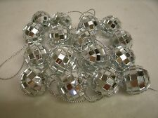 """16 Miniature Mirror Disco Ball Ornaments for Feather Tree 1"""" tall"""