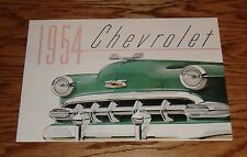 1954 Chevrolet Color Foldout Sales Brochure 54 Chevy