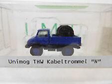 eso-762IMU 1:160 Unimog THW mit Kabeltrommel Metall,sehr guter Zustand