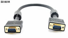 1.5ft. Super-VGA (HD15) M/M Video Monitor Cable Gold Plated w/ Ferrite - SV-001H