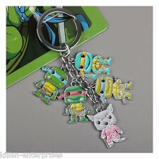 Anime Cartoon TMNT Teenage Mutant Ninja Turtles Keychains Metal Figures Pendants