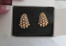 AVON ELIZABETH TAYLOR EVENING STAR CLIP ON EARRINGS WITH BOX & PAPERWORK