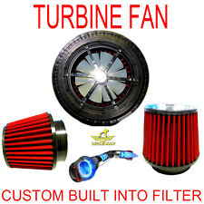 VW Turbonator Spinner Air Intake Cone Filter With Power Supercharger Fan System