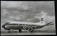 "Nice Postcard of Lufthansa's ""Vickers Viscount 814"" Reg D-ANUN c1960"