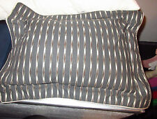 "One (1) Yves Delorme ""GREY BROWN RECTANGULAR THROW PILLOW"" 100% Cotton BC"
