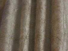 "Silver Embroidery on White 100% Silk Organza Fabric 44"" Wide, By Yard (EB-954)"
