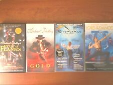 Michael Flatley VHS bundle - Lord Of The Dance/Riverdance/Gold/Feet Of Flames