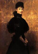 Elisabeth Sisi v Benczur ungar. Maler K&K Monarchie Faksimile 4 auf Büttenpapier