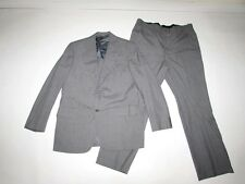 Vintage Hickey Freeman Men's 2 Button Suit Size 42 Regular 38 x 31 Gray Blue 42R