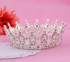 Wedding Bridal Silver Full Pageant Crown Tiara Queen Hair Accessories Jewelry