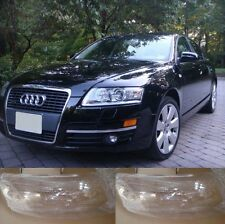 Audi A6 С6 2006-2011 Left and Right Front Kit Cover Lens for Headlights + Glue