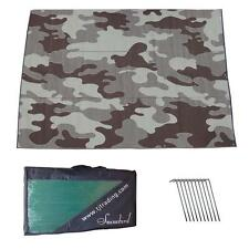 RV Patio Awning Mat Outdoor 9x12 Brown Tan Camoflage 9x12CAMBR