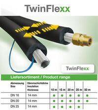Solar Edelstahlwellrohr Solarleitung TwinFlexx DN 20 x 20 mm Isolierung 15 meter