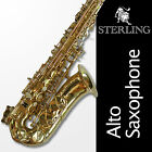 STERLING Gold Lacquer ALTO SAX • Pro Quality • BRAND NEW • Quality Eb Saxophone!