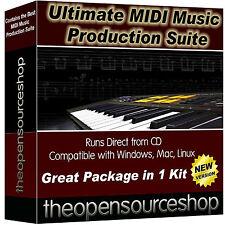 Paquete de software de grabación de música profesional estudio aprender a crear nueva música