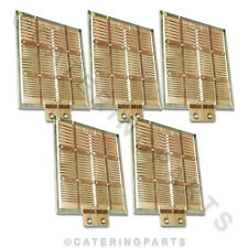 OLD STYLE HEATING ELEMENTS FOR DUALIT 4 SLOT FOUR SLICE TOASTER 5 X ELEMENTS SET