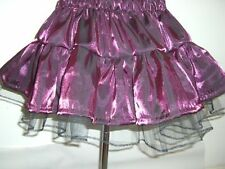 shiny sparkly dark purple aubergine short mini tutu skirt black net plus32+party