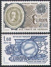 France 1982 Europa/Map/Treaty/People 2v set (n30133)